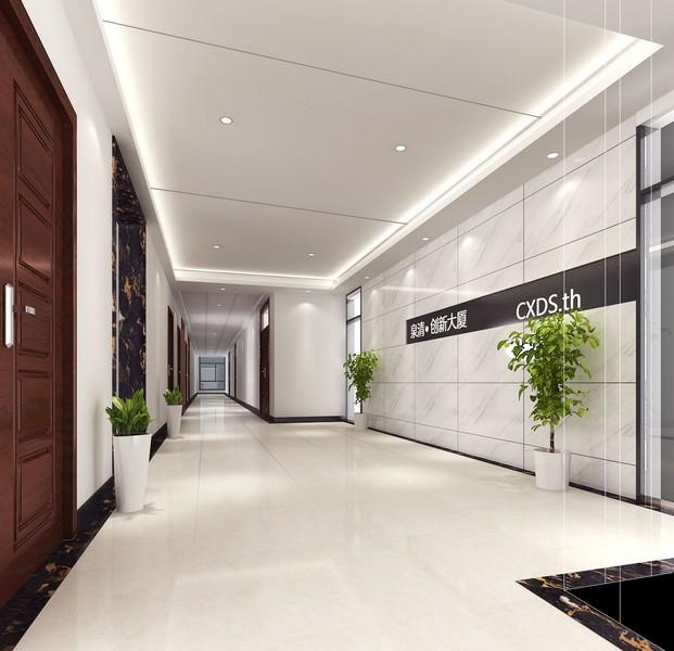 烟台泉清大厦办公楼-走廊