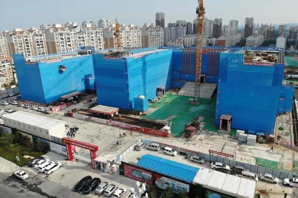 金日封顶丨烟台开发区新第四初级中学工程进展顺利
