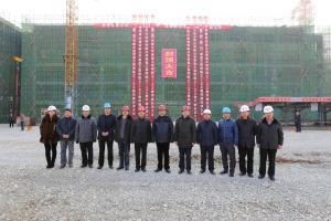 烟台工商学院教学楼工程举行主体封顶仪式