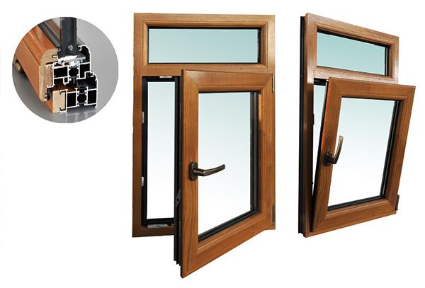 FLSM68系列铝木复合内平开下悬窗