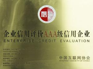 Corporate credit rating AAA grade credit enterprise