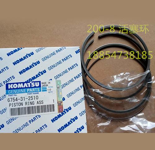 供应小松挖掘机PC 200-8 发动机配件6D107活塞环 6754-31-2510