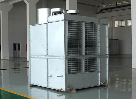 Efficient evaporative chiller module