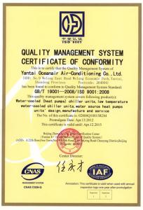 质量认证证书反面