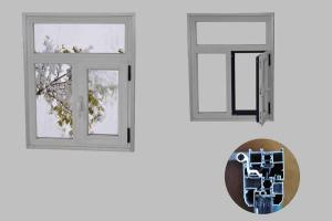 Thermal Insulation Aluminum Window With AS2047