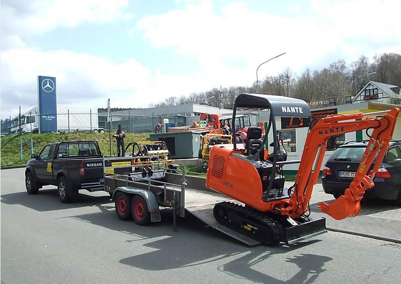 nante mini excavator in Germany