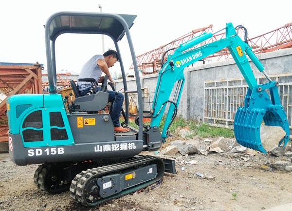 多功能SD15B小型挖掘机