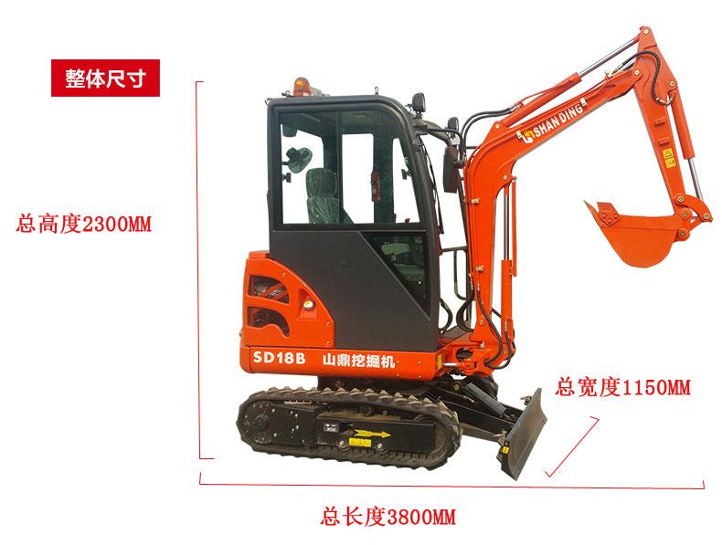 SD18B小型挖掘机变形推土铲使用方法解析