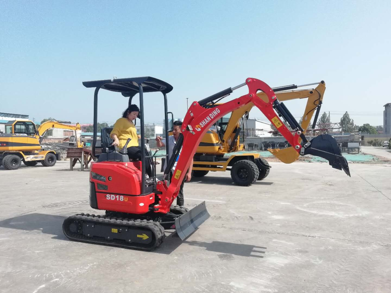 山鼎SD18U小型挖掘机订购现场