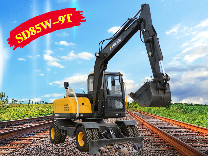 SD85-9轮胎式挖掘机