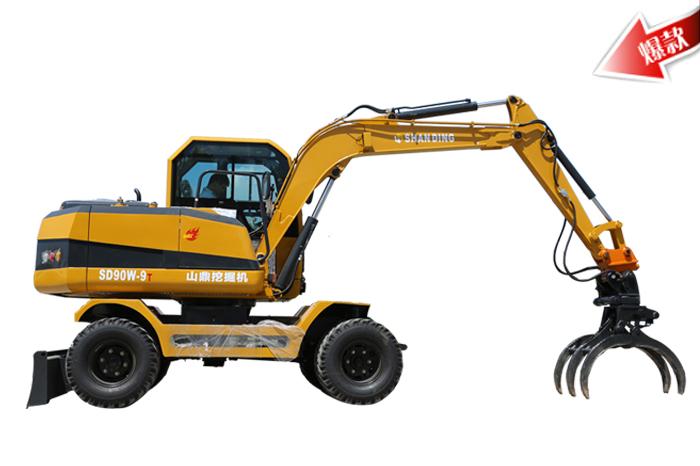 SD90W-9T轮式抓木机