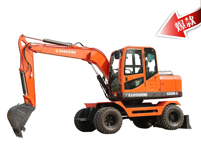 SD80W-9T小型轮式挖掘机