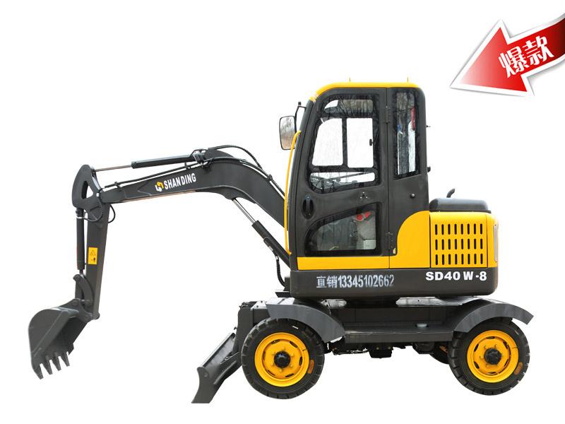 SD40W-8小型轮式挖掘机