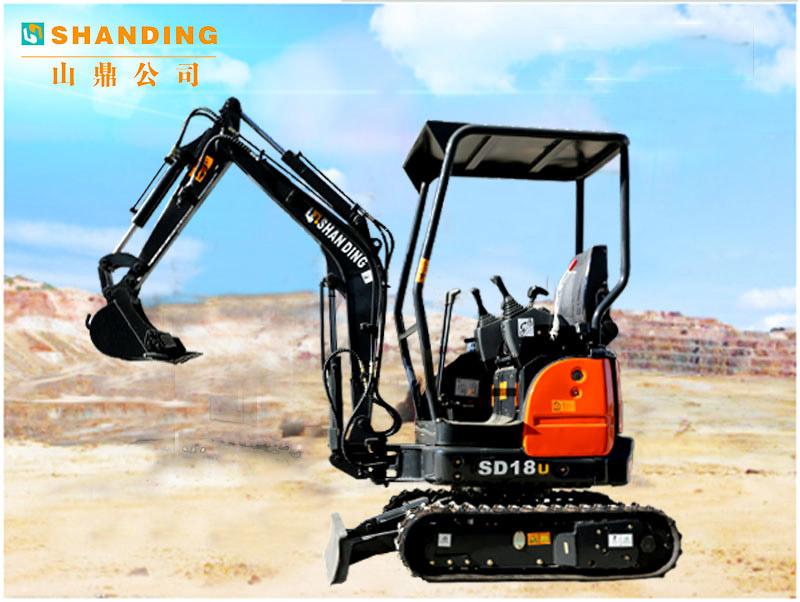 德甲下注无尾进口配置18U小型挖掘机施工视频