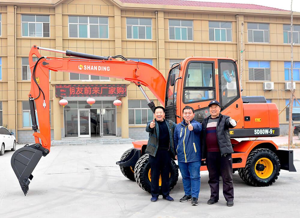 遼寧客戶團購輪式挖掘機